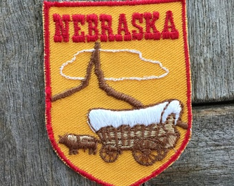 Nebraska Vintage Souvenir Travel Patch from Voyager