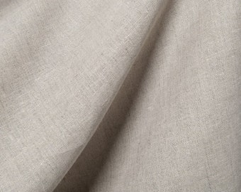 Light gray flax - Natural linen fabric by half yard - European linen fabric