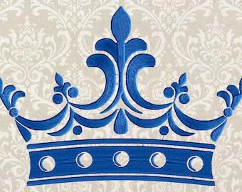 Victorian Edwardian Crown Embroidery Design -Font not included- EMBROIDERY DESIGN FILE - Instant download - Dst Hus Jef Pes VP3 Exp formats