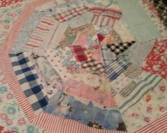 Vintage Patchwork Cotton Quilt Shabby Chic
