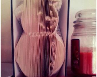 Book Folding Pattern - Snowman