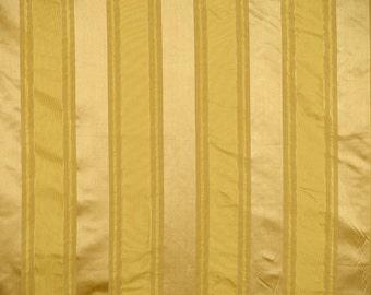SCALAMANDRE FEDERAL STRIPES Silk Fabric 10 Yards Gold