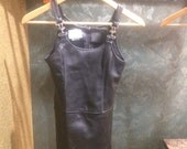 You Babes Black Leather Buckle Strap Vintage Tank Top Size 3 Small