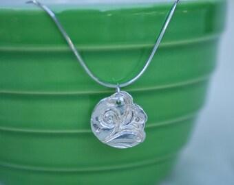 Fine Silver Pendant // Fine Silver Coin Pendant // Silver Coin Pendant //Pendant and Chain