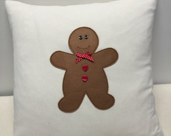 Gingerbread Man, Christmas Cushion, Christmas,  Gingerbread Man, Home Decor, Xmas, Christmas Decoration