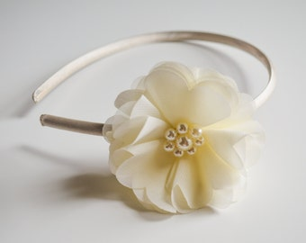 Ivory Flower Girl Headband, Toddler Girls Ivory Headband, Wedding Ivory Headband, Flower Girl, Ivory, Girls, Toddler, Infant Ivory Headband