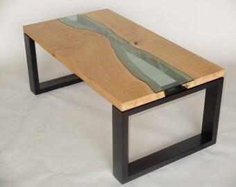 Coffee Table Solid English Oak Handmade Wooden Custom Sizes