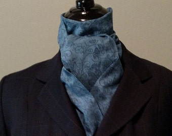 Med Blue Swirl Stock Tie