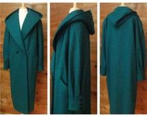 Women's Vintage Coat, Wool coat, Hooded coat, long Parka, Raincoat, Overcoat, Winter coat, Maxi coat, Blanket coat, Oversize Plus size | 16T