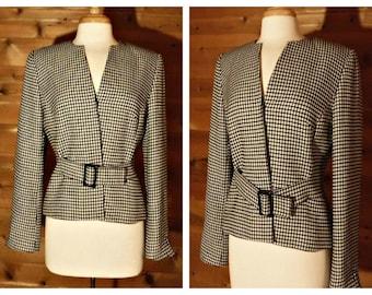 Items Similar To Wool Wrap Jacket Cropped Jacket