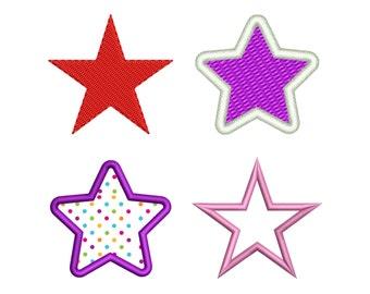 STAR APPLIQUE EMBROIDERY Design Star Applique Design Star Design Machine Embroidery Designs Instant Download No:23
