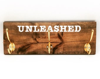 Reclaimed Wood Leash Hanger - Support pour laisse de chien