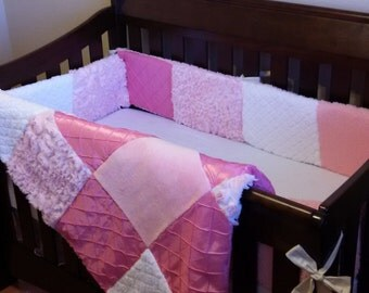 Custom Crib Set - Quilt, Bumper, and Skirt - Made to Order