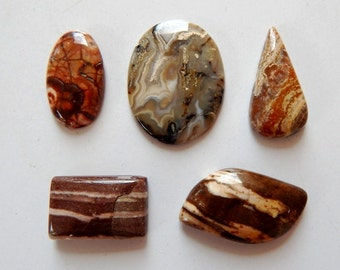 5 Pcs Lot ,Crazy lass, Cabochon,Loose Gemstones,SPS111