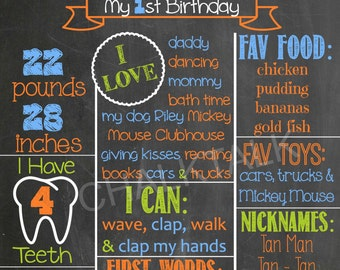 Fall Birthday Chalkboard - Halloween Birthday Chalkboard  - Pumpkin Chalkboard - Photo Prop - Printable - Fall Party - Pumpkin Party
