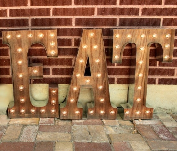 light up letters sign 3 marquee light up letters eat sign lights light bulb 17487 | il 570xN.831396798 h2bt