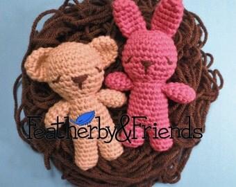 Pattern: Tiny Bunny & Bear Crochet Amigurumi