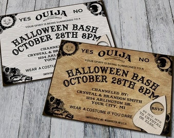 Ouija Board Halloween Party Invitations (Printable)