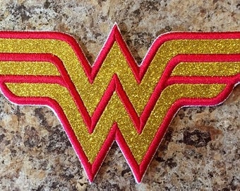 Wonder Woman Logo Iron On Applique