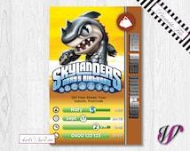 Skylanders Birthday Invitation - Trap Team - EARTH - Terrabite - SLE6-I