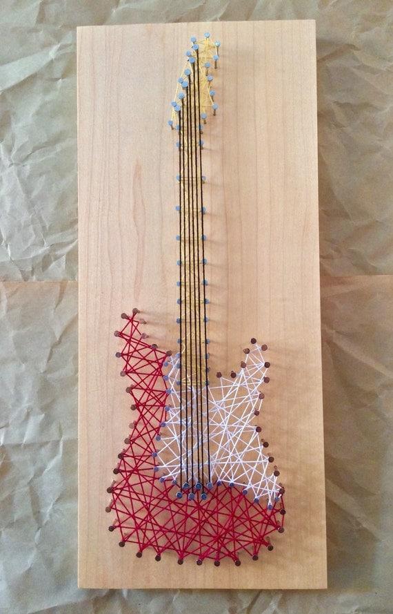 Guitar String Pattern : items similar to electric guitar string art on etsy ~ Hamham.info Haus und Dekorationen