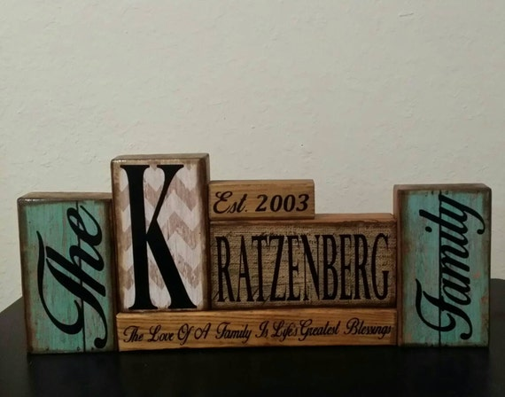 Personalised Wedding Gifts Quick Delivery : ... Personalized Block Set, Valentines Gift, Birthday Gift, Wedding Gift