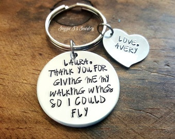 Physical Therapist Keychain, Personalized Custom Keychain, Therapist Appreciation Gift, Pt/pta Keepsake, Personalized Thank You Gift