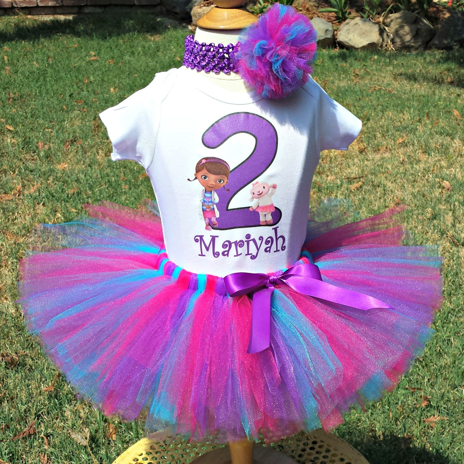 Birthday Party Outfit: Second Birthday Outfit Doc McStuffins Tutu Shirt Doc And