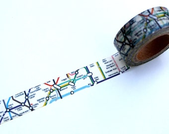 London Map Washi Tape, London Underground Tube MT tape Map Planner Craft
