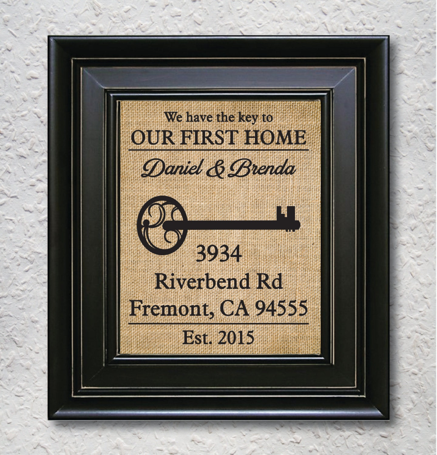 Our First Home Personalized Home Gift Custom First Home
