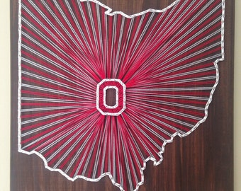 String art Ohio State University state sign