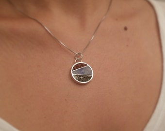 Inlay Pendant » Sterling silver