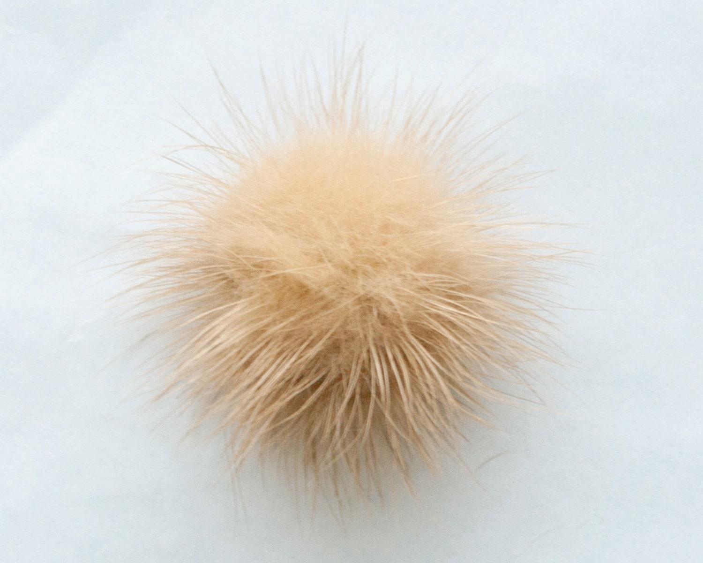 craft supplies  12pcs natural mink fur pom poms wholesale lots