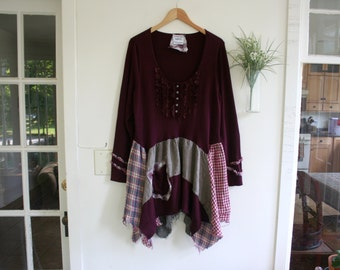 "Bohemian Clothing / Recycled ""Molly"" Tunic Sweater / by Breathe-Again Clothing"