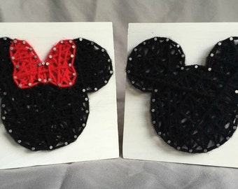 ON SALE Mickey & Minnie String Art Set {Black/Red}