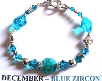December Zircon Birthstone Bracelet