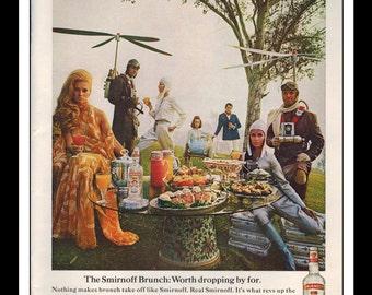"Vintage Print Ad April 1969 : Smirnoff Vodka Liquor Wall Art Decor 8.5"" x 11"" Advertisement"