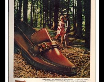 """Vintage Print Ad April 1969 : Dexter Shoes """"Dexter's A Natural"""" Advertisement Wall Art Decor Color 8.5"""" x 11"""""""