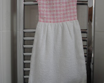 Hand Towel in theshape of a Dress to Hang from Radiator or Oven