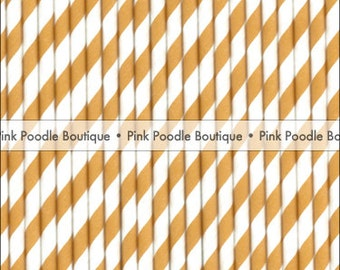 Tangerine Orange & White PAPER STRAWS / Drink STIRRERS (25 pc) -- pif . pay it forward . aok . act of kindness . free . clearance sale