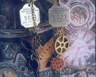 Steampunk earrings rabid Steampunk jewelry