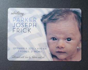 Printable Photo Baby Announcement