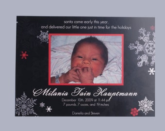 Printable Christmas-Themed Baby Announcement