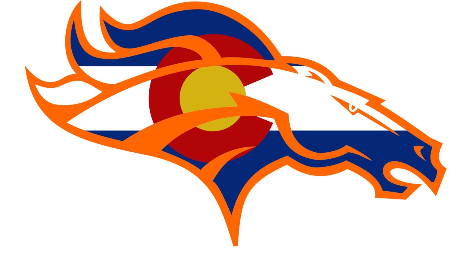 Denver Broncos 5 X 7 Car Magnet