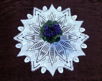SALE! Big white crochet table topper 27 inches White crochet doily Big lace doily Crochet round doily Big round doily White lace table decor