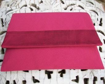 Clutch Bag, Pink Clutch Bag, Evening Clutch Bag, Designer Clutch Bag with Silk Trimming by Nana Bugler