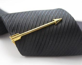Arrow Tie Clip, Archery Tie Bar, Hero Accessories, Gold Accessories, Novelty Accessories, Gift For Man
