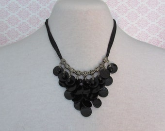 5 Strands Black necklace