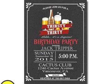 women surprise birthday invitation, mens surprise birthday, party invitations adult, 40th birthday invitations for men