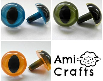 5 pairs CAT safety eyes - 2 colors and 2 sizes to choose (9mm or 12mm)- for toys, amigurumi